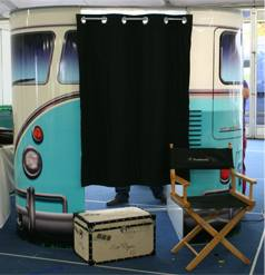 Blue vw photo booth