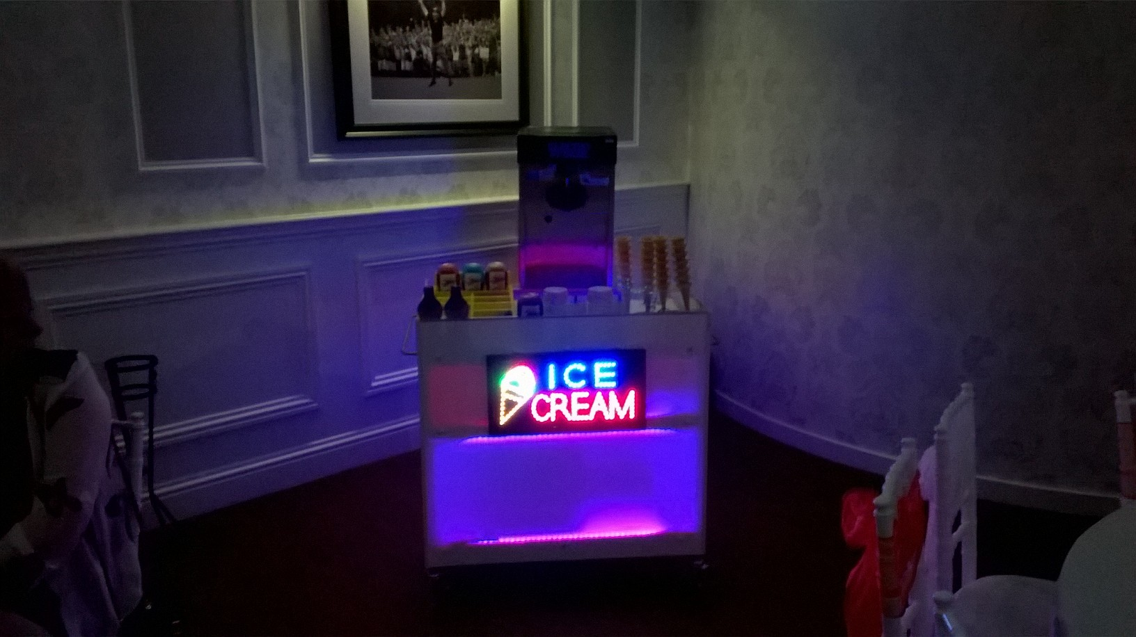 L E D Ice Cream Bar Hire